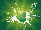 vector wallpaper of gradient green hearts