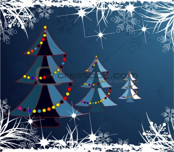 Abstract christmas theme.