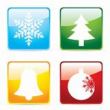 Colourful christmas icons