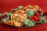 Christmas Fruit Cake Sliced