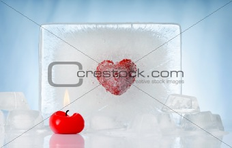 candle and ice