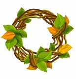 vector autumn wreath decoration