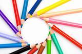 Many pencils forming a circle