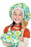 Small cook girl with scoop