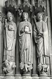 detail of portal of gothic church from Paris - st. Germain d Auxerrois