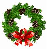 vector wreath christmas decoration