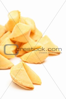 fortune cookies isolated on white