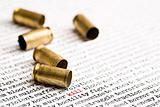 bullet shells over violence