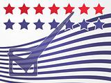 USA election voting illustration