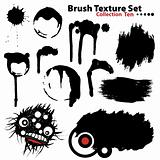 Collection of highly detailed vector illustration brushes and re