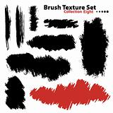 Collection of highly detailed vector illustration brushes - set