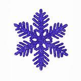 Dark blue glitter snowflake