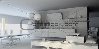 blank kitchen