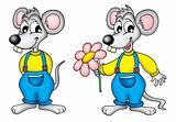 Two mouses with flower