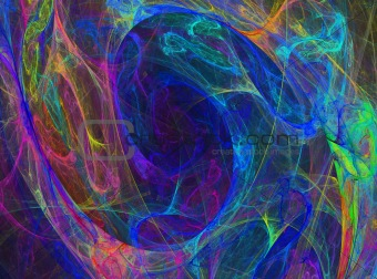 Blue abstract energy swirl