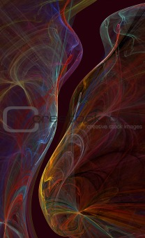 Abstract glowing Wave background