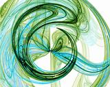 green abstract burst design