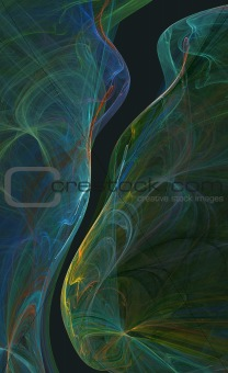 Abstract Wavy flowing  background