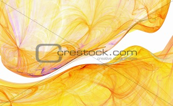 Abstract flowing yellow energy background