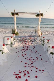 Beach Wedding Path Rose Pedals