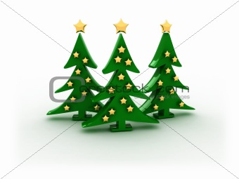 3d christmas trees