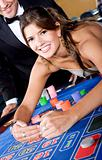 casino woman gambling