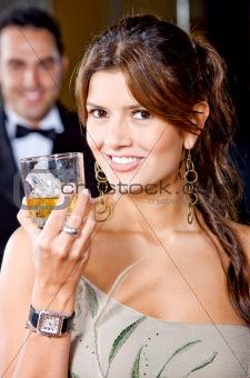 elegant party woman