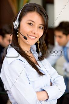 business customer service woman