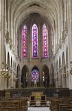 interior of gothic church from Paris -st. Germain d Auxerrois church