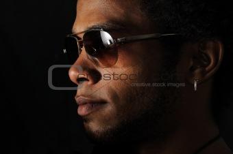 African man face
