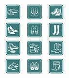 Footwear icons | TEAL series