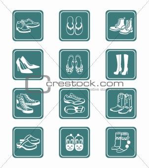 Footwear icons | TEAL series