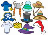 Various hats collection