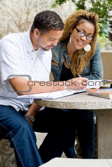 african american college students study