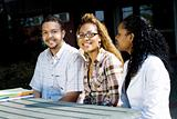 group of young african college students