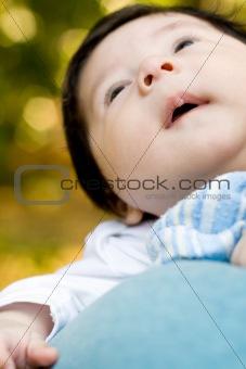 cute chubby infant baby boy