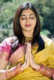 indian woman praying