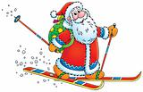 Santa Claus skier