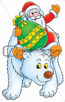 Santa Claus travels on the Polar Bear