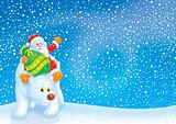 Santa Claus travels on the Polar Bear