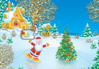 Santa Claus skater