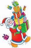 Santa Claus and Christmas gifts