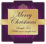 Ornate Purple and Gold Christmas Label with room for your own text.
