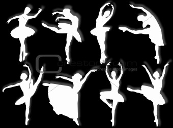 Classical dancers silhouette
