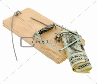 Mousetrap with dollar