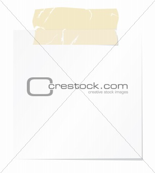 Blank note paper with sellotape