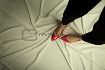 Conceptual photo advertising footwear