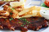 ribs, calamari and chips