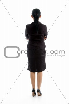 back pose of young executive