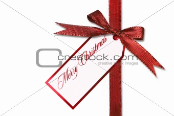 Holiday Gift Tag and Bow With Message